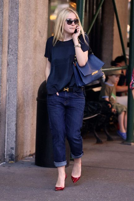 Take a casual outfit to the next level with designer accessories like this Céline Blade bag as seen on Dakota Fanning.  Did we mention all Céline accessories are 30% off in-store at Jean Brown? Get in quick!
