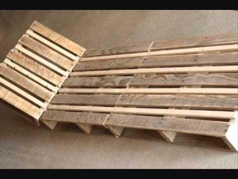 fabriquer une chaise longue design en palette repurposed pallets ideas projects pinterest. Black Bedroom Furniture Sets. Home Design Ideas