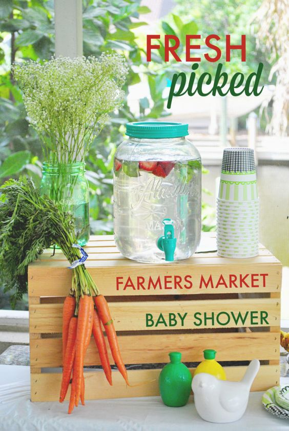 Fresh Picked Baby Shower Mom Trends