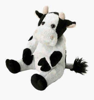 Aromatherapy Cow.  Heat this aroma cow stuffed animal in your microwave to activate the relaxing natural herbs within.