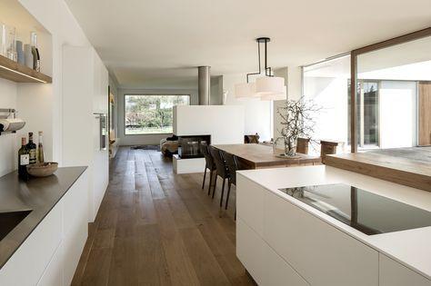 1110 Einfamilienhaus, Neubau apunkt architekten House - offene küche wohnzimmer trennen