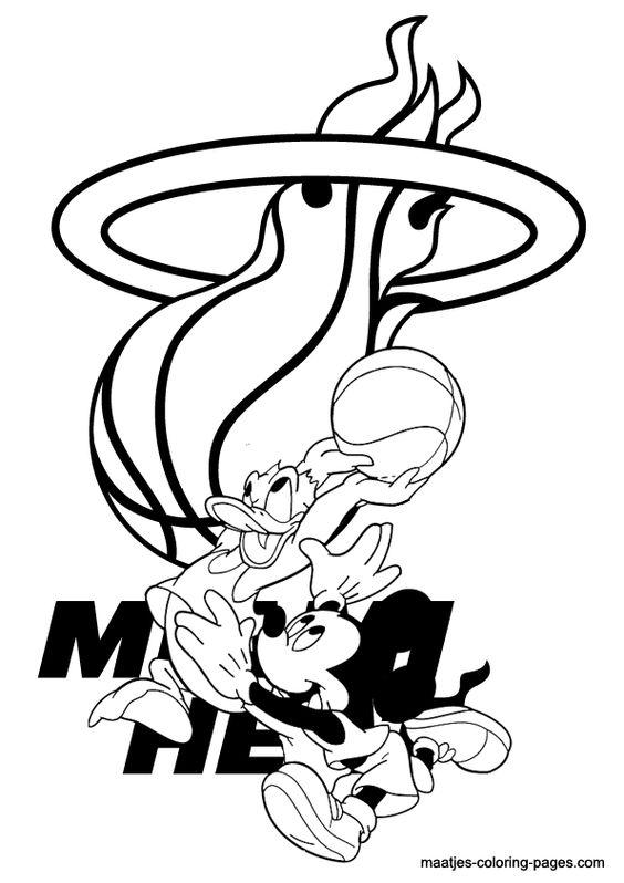 More NBA coloring pages on maatjescoloringpagescom  NBA