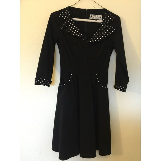 Black and white pinup dress Very cute, excellent quality. Worn once. #pinup #retro #rockabilly size small Dresses Midi