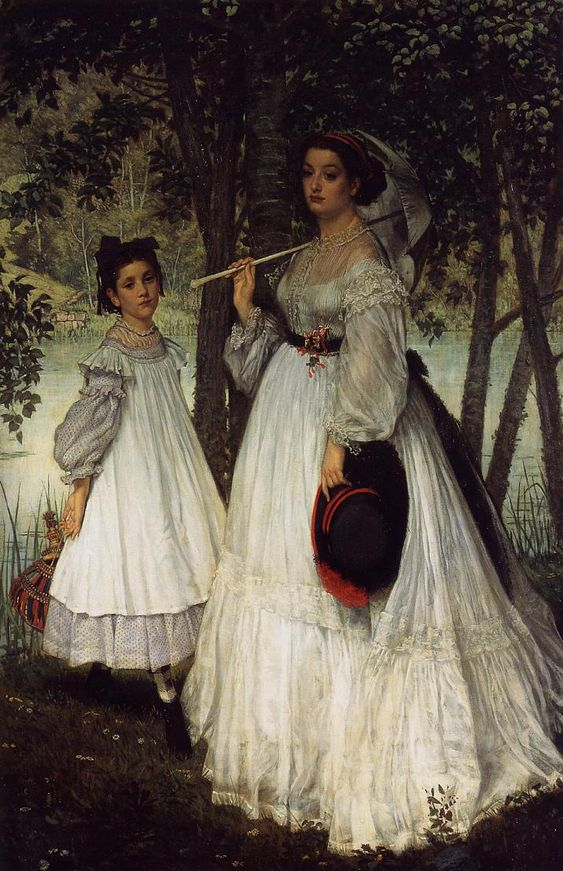 The Two Sisters Portrait, 1863    by  James Tissot