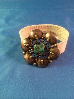 Mary Gage. Arts and Crafts silver and turquoise brooch. View 2.