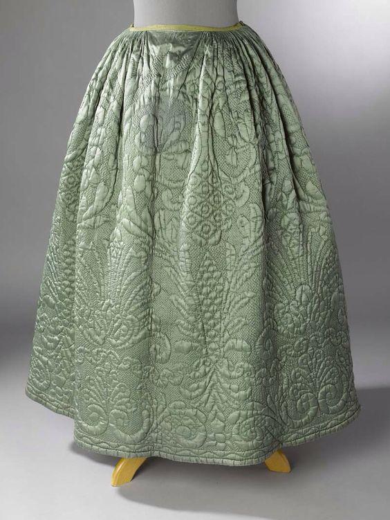 Quilted 18th century petticoat