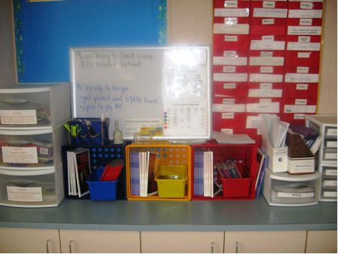 Small group reading materials (organization ideas).