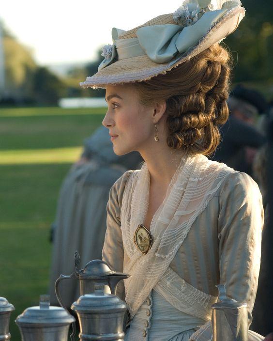 Keira Knightley as Georgiana, Duchess of Devonshire in 'The Duchess', 2008.