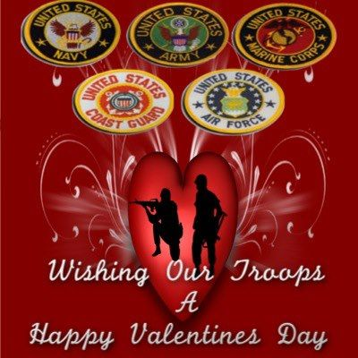 Wishing our Troops a Happy Valentines Day  Papa Hills Popcorn