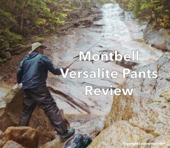 Montbell Versalite Pants Review Section Hikers Backpacking Blog Rain Pants Rain Shell Reviews