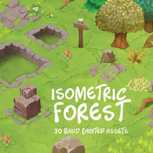 Isometric Forest Game Pro Market Isometric Isometric Design Isometric Art