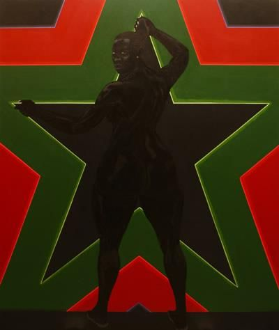 'Black Star' by Kerry James Marshall, 2012. From 'Who's Afraid of Red Black and Green?' opening in Vienna, Sept 18th