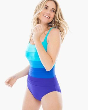 Miraclesuit Spectra Band-It Square Neck Swimsuit: