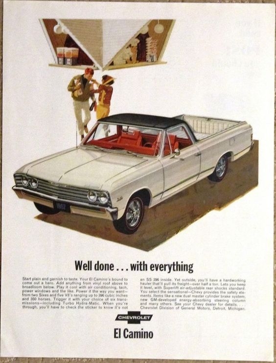 Chevrolet Chevy EL CAMINO 1967 Advertisement Original AD Well  Done