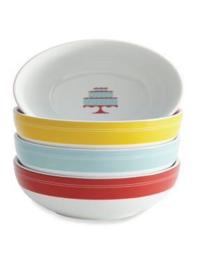 Cake Boss   4-pc. Porcelain Ice Cream Bowl Set
