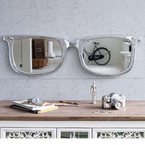 Spiegel Brille, recyceltes Aluminium Vorderansicht