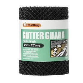 Frost King Plastic Gutter Guard Lowes Com Gutter Guard Gutters Gutter