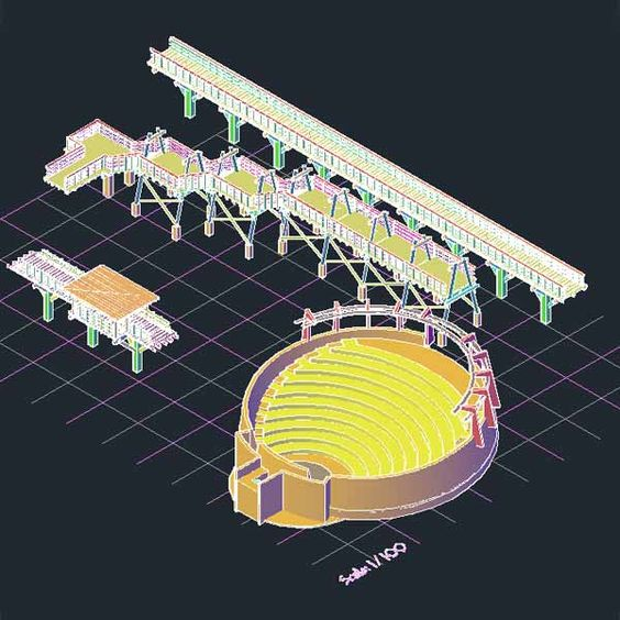AutoCad 3D Blocks For Landscape, Park And Playground