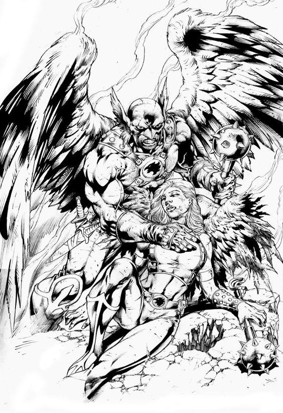 Hawkman & Hawkgirl by Jose Luis