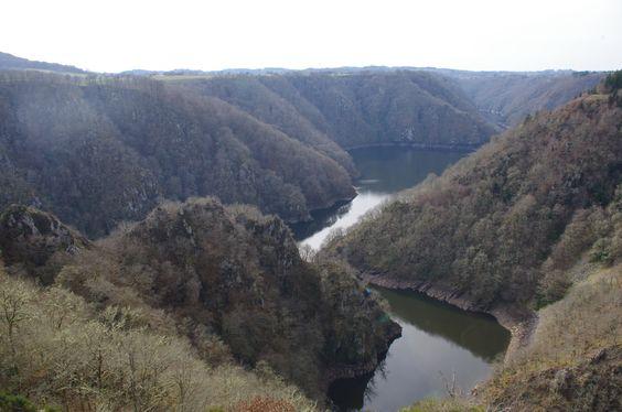 Confluent de la Dordogne et de la Diège