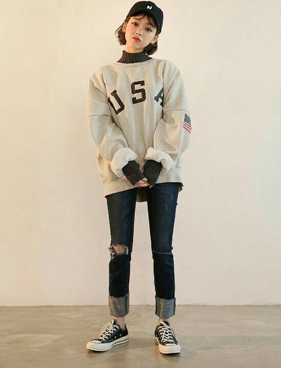 korean fashion soft grunge winter outfits ulzzang girl
