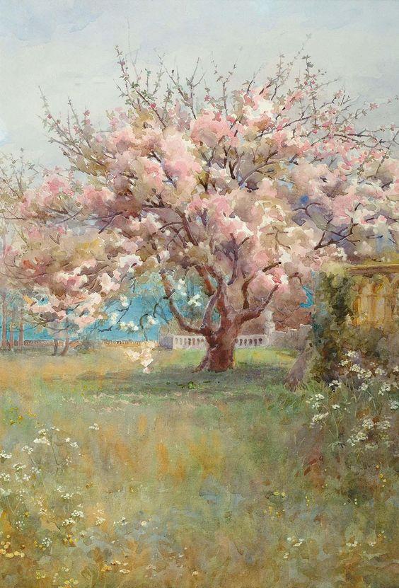 "fleurdulys: "" Blossom Time - Charles Edward Georges 1900 """