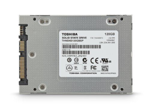 Toshiba America Information Systems 120 GB Solid State Drive PC Upgrade Kit 2.5 HDTS112XZSWA by Toshiba. $154.55. Boost your notebook and desktop PCs to the next level of storage performance with Toshiba Solid State Drive technology. Toshiba Solid State Drive PC Upgrade Kit offers high performance drive upgrade for your PC. The kit comes with the tools that you need to upgrade the drive in your notebook and desktop PCs. Plus, it includes data migration cable a...