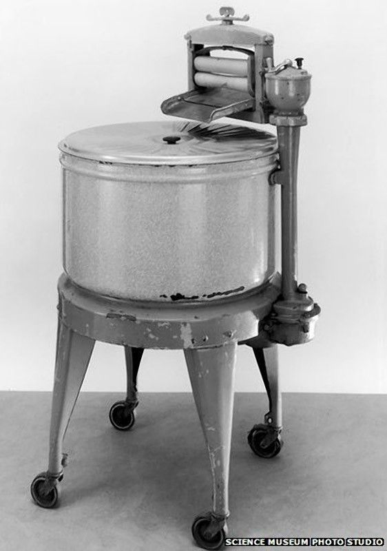 1920 Electric Washing Machine ~ First electric refrigerator s is dated it