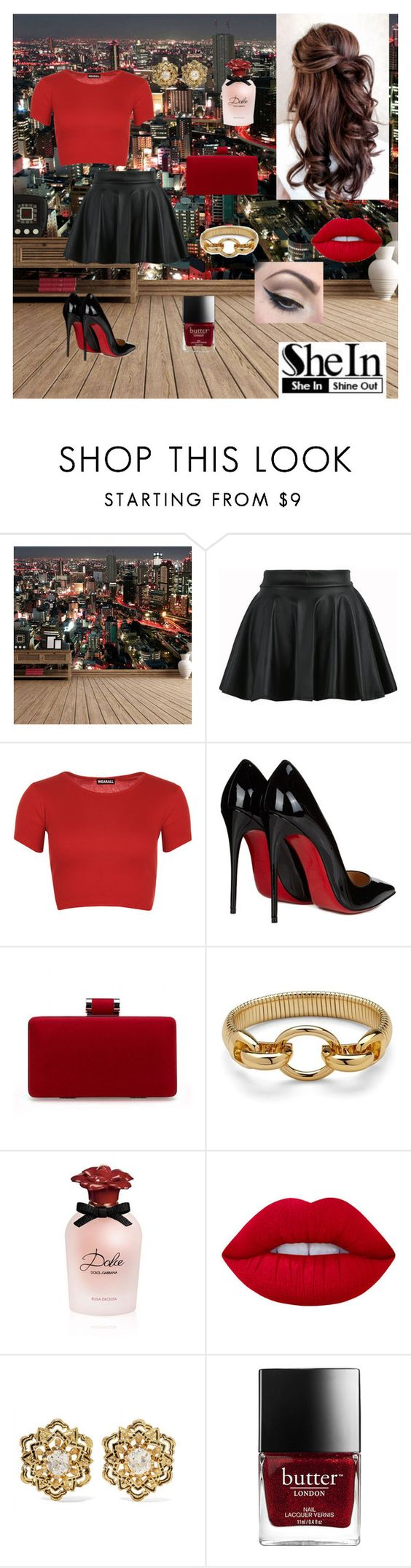 """Out on the town"" by acda ❤ liked on Polyvore featuring WithChic, WearAll, Christian Louboutin, Diane Von Furstenberg, Dolce&Gabbana, Lime Crime, Fred Leighton and Mehron"