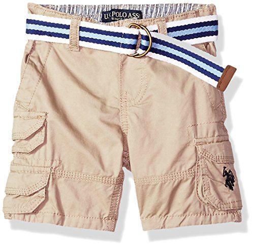 Boys Twill Short with Belt Polo Assn U.S