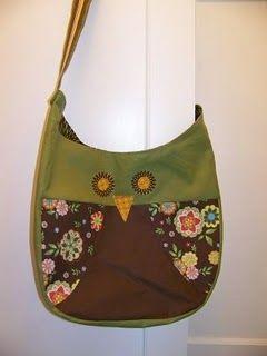 Owl bag tutorial. Para @Carol Figueiredo, que, como eu, adora corujinhas! :)