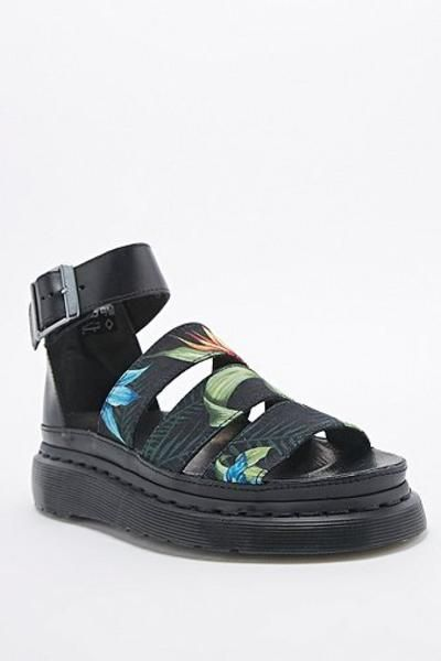 Dr. Martens Clarissa Hawaiian Sandals in Black #sandals #offduty #sunny #covetme #dr.martens