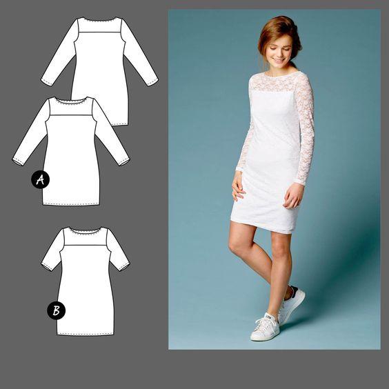 Kleid, Gr. 32 - Stoff & Stil