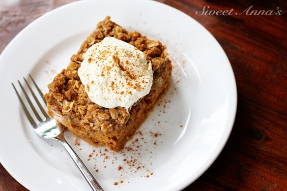 Pumpkin Crisp -- The simplicity and buttery rich crumble topping of a fall crisp, the perfection of a creamy pumpkin pie, all thrown together in a few minutes and so so good!
