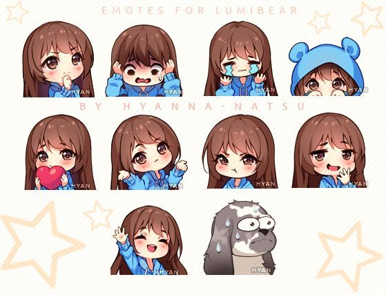 Video Commission Lumi Emotes By Hyanna Natsu On Deviantart In 2020 Anime Chibi Chibi Drawings Anime Pixel Art