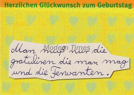 lustige sprüche postkarte - herzlichen glückwunsch zum geburtstag