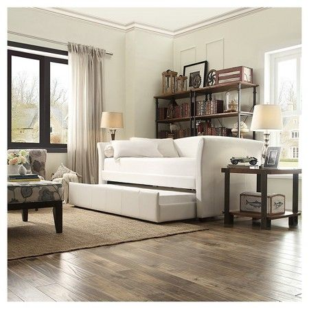 Paige Daybed With Pullout Trundle Vanilla Twin Homelegance Target Expect More