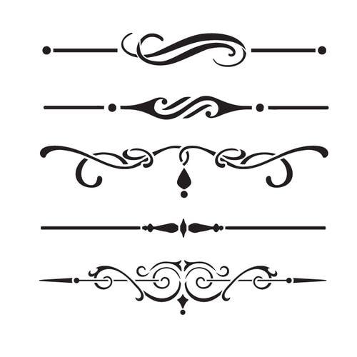 Underline Accents Art Stencil 9 X 9 Stcl1120 2 Accent Art Stencil Art Stencils