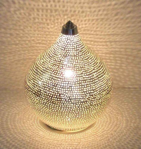 """Kupfer Lampe: milanari Orientalische Tischlampe """"Mekin"""" S h20 cm: Amazon.de: Beleuchtung"""