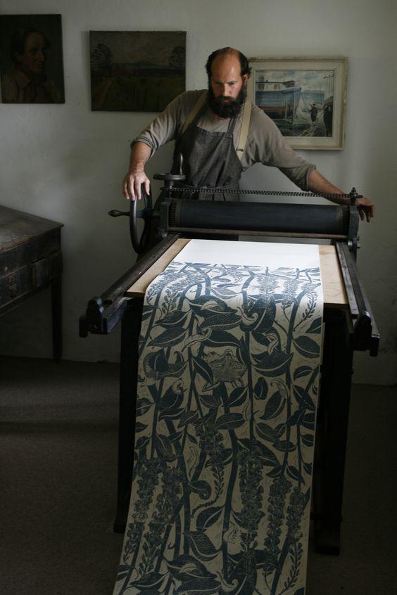Hand-Block Printer Cameron Short | The New Craftsmen | Luxury Handmade Craft