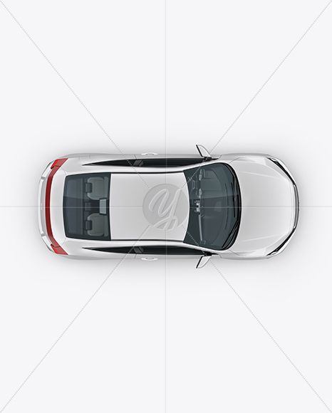 Download Compact Coupe Car Mockup Top View In Vehicle Mockups On Yellow Images Object Mockups Coupe Cars Car Top View Coupe PSD Mockup Templates