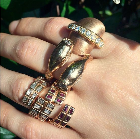One of every Finger. Which is your favorite #anakatarinadesign #paris2015 #pfw #rosearkshowroom #ROSEARK