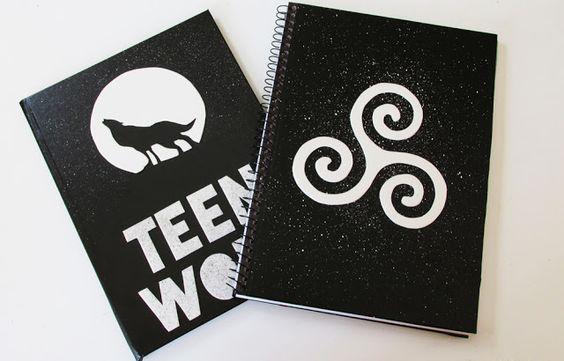 Ideias Personalizadas : DIY: Cadernos Personalizados TEEN WOLF