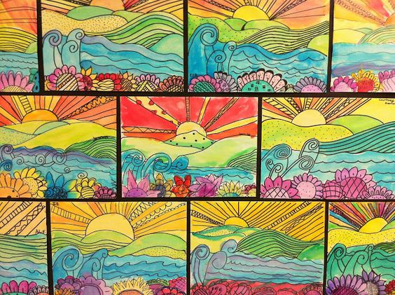 5th- foreground, middle, and background Apex Elementary Art | Art ...
