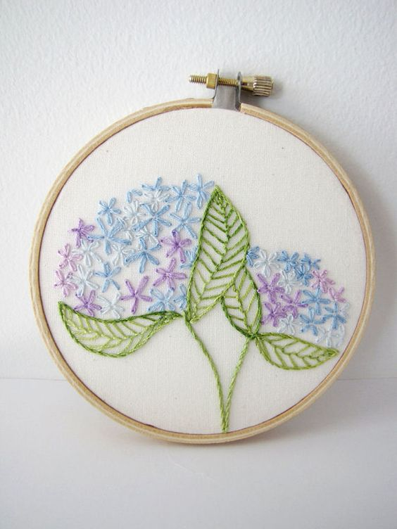 Hydrangeas embroidery hoops and on pinterest