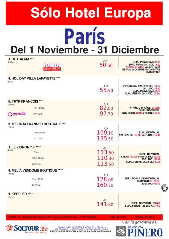 PARIS - Sólo Hotel - Del 1 Noviembre al 31 Diciembre 2013 - http://zocotours.com/paris-solo-hotel-del-1-noviembre-al-31-diciembre-2013/