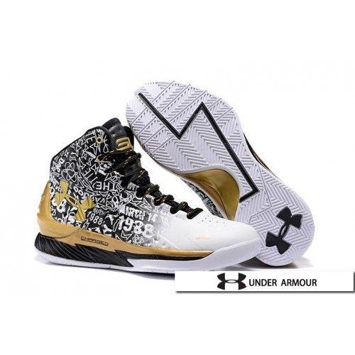 fragmento Otros lugares Decoración  UA Curry MVP Shoes - 2016 Under Armour UA Curry 1 MVP Black Gold White Shoes    White shoes, Curry basketball shoes, Shoes