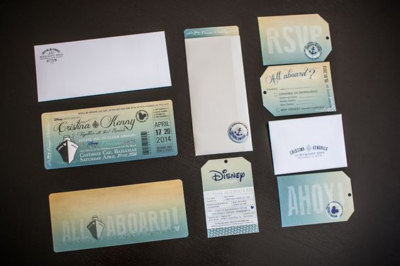 disney cruise wedding invitations by great heights paper hearts - Cruise Wedding Invitations