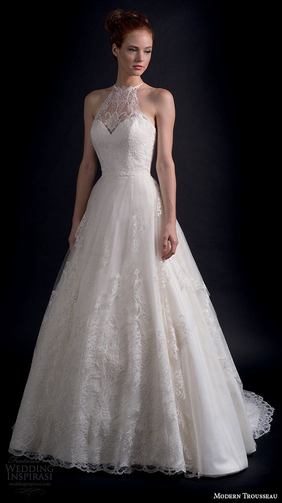 Modern Trousseau Lace Wedding Dress : Modern trousseau fall and wedding dresses on