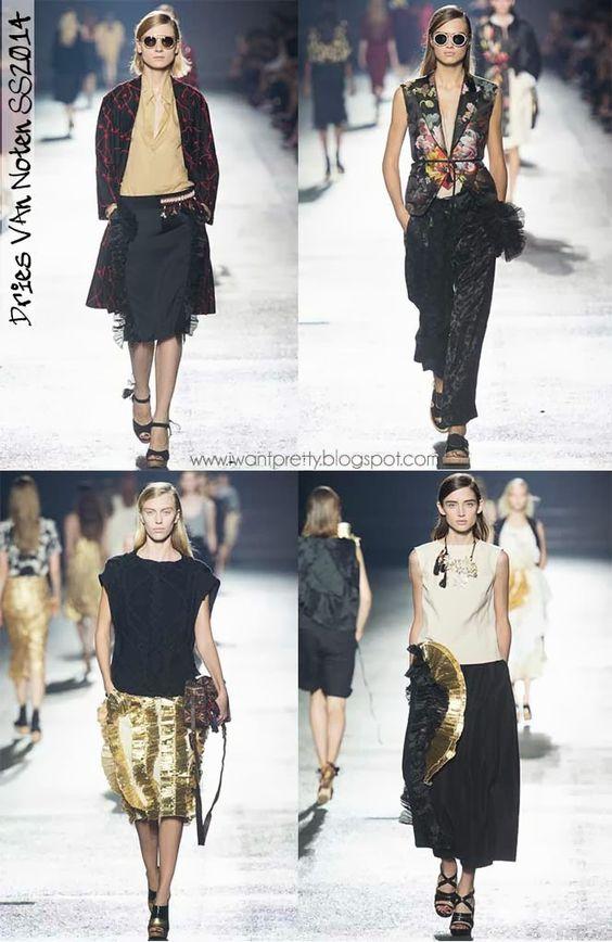 I want pretty: Paris Fashion Week Primavera-Verano 2014-Dries Van Noten.